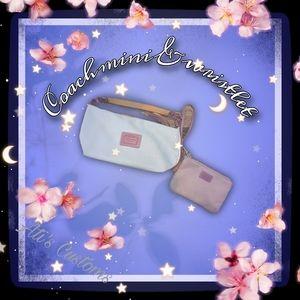 Coach wristlet and mini shoulder bag